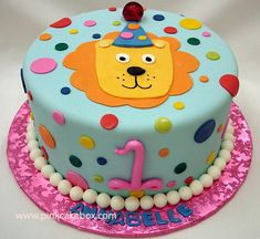 First Birthday Lion Cake by Pink Cake Box in Denville, NJ.  More photos at http://blog.pinkcakebox.com/first-birthday-lion-cake-2007-09-14.htm  #cakes