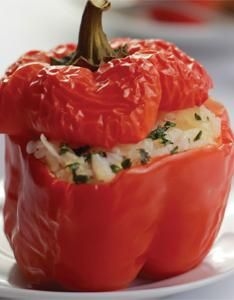 Crawfish-Stuffed Bell Peppers ~ I'm going to try this with crab meat.