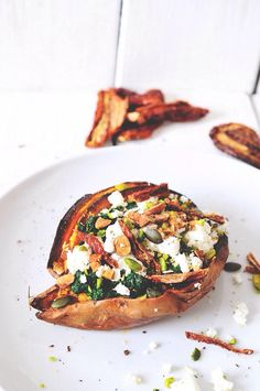 baked and stuffed sweet potato