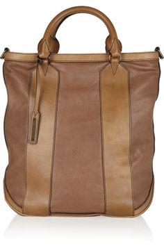 Paneled Textured-leather Tote on @LoLoBu - http://lolobu.com/o/14363/