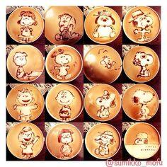 Peanuts gangs latte art