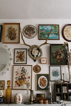 Make a feature of a blank wall by mixing and matching frames