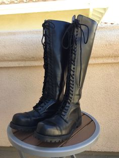 Underground England Black Leather 30 Eye Steel Toe Ranger Boots Mens 11 in Clothing, Shoes & Accessories, Men's Shoes, Boots | eBay