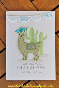 Stampin Up - Birthday Fiesta / Fiesta Time Framelits - pinned from www.ilovebasteln.wordpress.com
