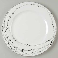 Sharpie Plate design OISEAU BY CIROA. SO CUTE.