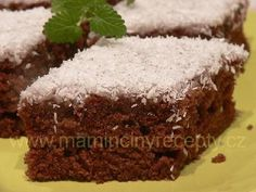 Kefírová buchta s kokosem Kefir, Sweet Cakes, Sweet Recipes, Brownies, Food And Drink, Sweets, Cookies, Baking, Kuchen