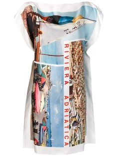 Shop online Isa Arfen Riviera print dress now with Same Day Delivery in London. Yellow Dress, Blue Dresses, White Dress, Isa Arfen, Postcard Printing, Top Knot, Black Tops, Party Dress, Women Wear