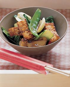 Tofu Stir-Fry.  Shallow fry the tofu first to get it extra crispy, then add in strips of chicken or beef for extra protein. Swap some of the veggies for CBL friendly veggies and finish with some toasted sesame seeds. Yum :)