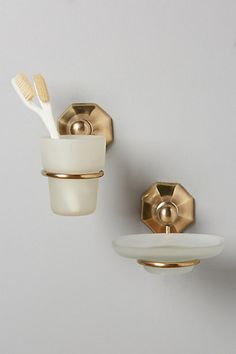 Brass Circlet Bath Containers #anthropologie