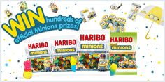 Find where on earth have the Haribo Minions popped up and you could win from hundreds of official Minions prizes!