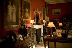 The drawing room at Carlton Towers - so warm and cosy!