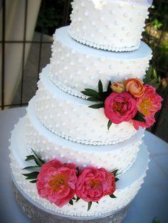 Milk Glass Wedding Cake #weddingcakesbydana.blogspot.com