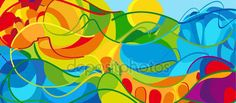 Download - RIO 2016 Olympic games 2016 Summer wavy abstract background. Summer BRAZIL colorful pattern. Summer wavy illustration. Vector — Stock Illustration #114722590
