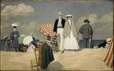 René Xavier Prinet, La plage de Cabourg, 1910 (Huile sur toile, 94,3 x 150,5 cm), Musée d'Orsay