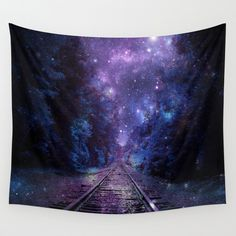 TRAIN+tracks+Wall+Tapestry+by+2sweet4words+Designs+-+$39.00