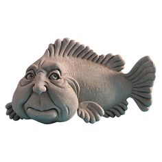This amazing Sid Fish Sculpture from George Carruth of Carruth Studio will breath life into any home or garden Kintsugi, Fish Sculpture, Sculptures, Clay Fish, Polymer Clay Kunst, Ceramic Animals, Cast Stone, Paperclay, Sand Art