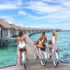 """Started a biker gang today. @tropicsurf @comohotels #maldives"" Photo taken by @alanarblanchard on Instagram, pinned via the InstaPin iOS App! http://www.instapinapp.com (08/30/2015)"