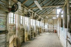 Rural Australia -- shearing shed and stands