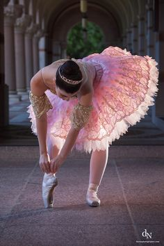 Pink ballerina loveliness. #ballet #dance #costume #shoes