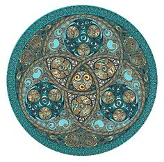 This one is an Irish Spirit Wheel, from the cover of a book by Frank MacEowen, The Celtic Way of Seeing