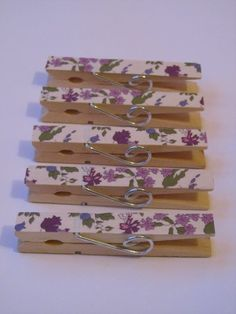 Magnetic pegs made with limited edition Liberty by loulalacrafts, $11.50