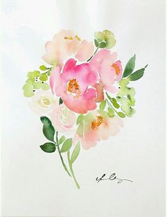 A watercolor bouquet...inspiring.