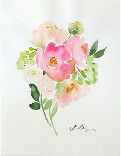 A watercolor bouquet...inspiring.
