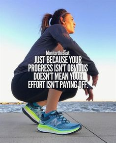 Remember: Just because your progress isn't obvious Doesn't mean your effort isn't paying off #FitnessInspiration