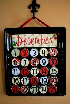 baby food jar advent calendar, how cute, and I've been looking for a way to use up some of the baby food jars instead of throwing them away