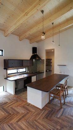 Nordic Kitchen, Natural Interior, My House, House Design, Living Room, Table, Furniture, Home Decor, Kitchens