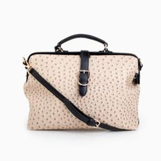 ostrich skin doctor bag. fancy.