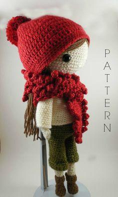 Etsy の Andrea Amigurumi Doll Crochet Pattern PDF by CarmenRent