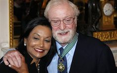 Sir Michael Caine with his wife Shakira Baksh...married since 1973