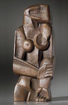 OZZIP ZADKINE, Femme debout, 1922. Cast bronze. © Zadkine Research Center. / Zadkine