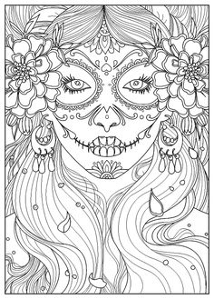Tigers - Printable Adult Coloring Page from Favoreads (Coloring book pages for adults and kids, Coloring sheets, Coloring designs) Star Coloring Pages, Halloween Coloring Pages, Printable Adult Coloring Pages, Flower Coloring Pages, Mandala Coloring Pages, Coloring Pages To Print, Coloring Books, Kids Coloring, Coloring Sheets