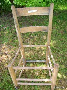 Rustic Chair Planter   Saving 4 Six: crafts