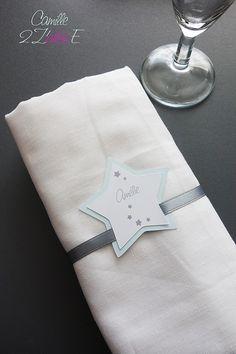 Camille 2 z'ailes E | Marque-place Etoile rond de serviette