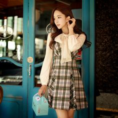 dabuwawa winter dress womens 2016 slim woolen tank plaid dress women pink doll-in Dresses from Women's Clothing & Accessories on Aliexpress.com | Alibaba Group