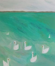 Yuko Murata, 'bohemians (on green),' 2014, Inman Gallery