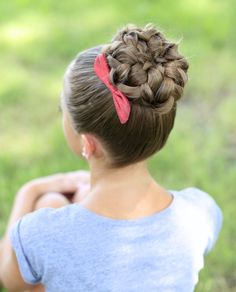 Cute bun for dance recitals or just to get your hair out of your way!
