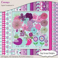 Digital Scrapbooking Emma Digital Scrapbook by DigiScrapDelights