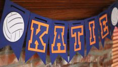 Personalized Sports Banner, Volleyball Banner, Basketball Banner, Softball Banner, Baseball Banner, Football Banner, Tennis Banner by TheJoyfulHauss, $18.00