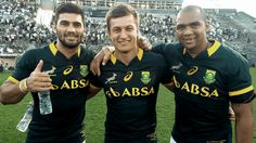 Springboks-some of the new youngsters Damian de Allende, Handre Pollard and Cornal Hencricks