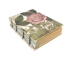 Romantic Rose Coptic Bound Journal by Thenibandquill on Etsy, $32.00