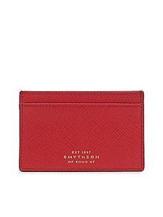 Smythson Panama Calfskin Leather Cardcase 771