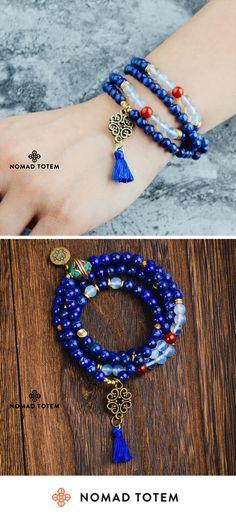 LADY Wan Handmade Tibetan Monk Lucky Rope Bracelet