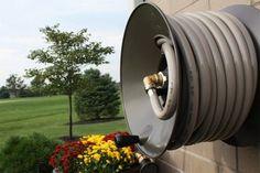 Best DIY Garden Hose Storage With If you want to create a garden pa. Black And Decker Toaster, Garden Hose Storage, Hose Reel, Path Lights, Large Backyard, Garden Gates, Amazing Gardens, Outdoor Gardens, Planters