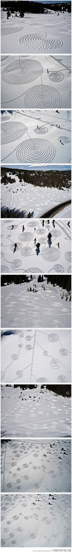 Snow Drawings... I somehow imagine @Neisha Gooden doing this...IF we'd had any snow this year! lol