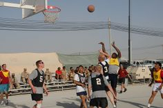 During the international sports day at Kandahar Airfield in Afghanistan, Canada, United-States, Great-Britain and Netherlands Task Forces created teams consisting of members from different countries that competed in hockey, basketball, volleyball and a mega training circuit. The event was followed by a BBQ at the boardwalk.