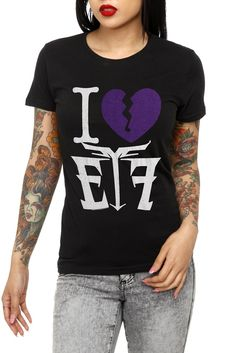 Escape The Fate I (Heart) ETF Girls T-Shirt <3 (Hot topic) I have this :)
